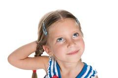 Ονειρεμένος μικρό κορίτσι Στοκ Εικόνες