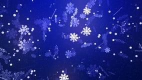 Ονειροπόλος χειμερινά snowflakes πτώση απεικόνιση αποθεμάτων