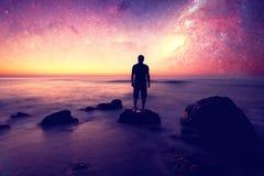 Ονειροπόλος και αστέρια Στοκ φωτογραφίες με δικαίωμα ελεύθερης χρήσης