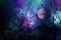 Ονειροπόλος νυχτερινός ουρανός ελεύθερη απεικόνιση δικαιώματος