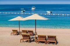 Ονειροπόλος παραλία άμμου στο Μαυροβούνιο Στοκ φωτογραφία με δικαίωμα ελεύθερης χρήσης
