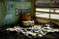Ονειροπόλος στις καταστροφές Στοκ Εικόνες