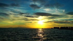 Ονειροπόλο χρονικό σφάλμα ηλιοβασιλέματος απόθεμα βίντεο