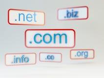 ονόματα Διαδικτύου δικτ&u Στοκ φωτογραφία με δικαίωμα ελεύθερης χρήσης