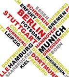 ονόματα της Γερμανίας κολάζ πόλεων Στοκ Εικόνα