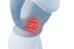 οξεία γυναίκα πόνου κοιλιών Στοκ εικόνες με δικαίωμα ελεύθερης χρήσης