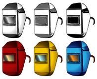 Οξυγονοκολλητής, μάσκες, σύνολο διαφορετικών χρωμάτων Στοκ Εικόνες