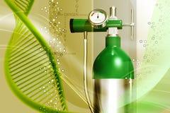 οξυγόνο κυλίνδρων Στοκ Φωτογραφίες