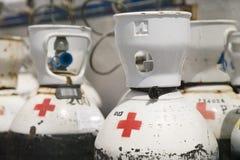 οξυγόνο μπουκαλιών Στοκ φωτογραφία με δικαίωμα ελεύθερης χρήσης