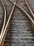 Οξυδωμένες διαδρομές σιδηροδρόμου στοκ φωτογραφία με δικαίωμα ελεύθερης χρήσης