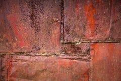 Οξυδωμένη σύσταση ανασκόπησης μετάλλων λεπτομερής τοίχος Στοκ Εικόνες
