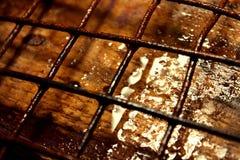 Οξυδωμένος σίδηρος και ξύλινη ταπετσαρία υποβάθρου στοκ εικόνες