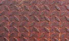 Οξυδωμένο πάτωμα χάλυβα στοκ εικόνα με δικαίωμα ελεύθερης χρήσης