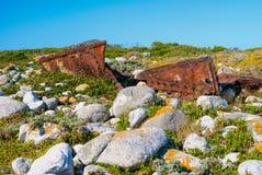 Οξυδωμένα μέρη του ναυαγίου Στοκ Φωτογραφία