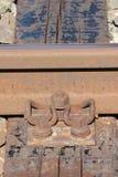 Οξυδωμένοι δεσμοί σιδηροδρόμων στοκ φωτογραφία με δικαίωμα ελεύθερης χρήσης