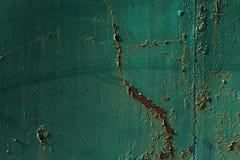 Οξυδωμένος άσπρος χρωματισμένος τοίχος μετάλλων Στοκ Φωτογραφίες