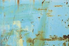 Οξυδωμένος μπλε χρωματισμένος τοίχος μετάλλων Στοκ φωτογραφία με δικαίωμα ελεύθερης χρήσης