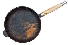 Οξυδωμένο τηγάνι χυτοσιδήρου Στοκ Φωτογραφία