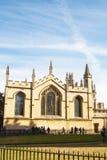 Οξφόρδη, Ηνωμένο Βασίλειο - 13 Οκτωβρίου 2018: Πανεπιστημιακή εκκλησία του ST Mary η Virgin Το παλαιότερο μέρος της εκκλησίας είν στοκ εικόνες με δικαίωμα ελεύθερης χρήσης