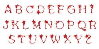 Οξύ αλφάβητο, διάνυσμα Στοκ Εικόνες
