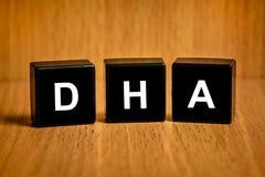 Οξύ DHA ή Docosacexaenoic στο μαύρο φραγμό Στοκ εικόνα με δικαίωμα ελεύθερης χρήσης