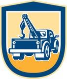 Οπίσθια ασπίδα Wrecker φορτηγών ρυμούλκησης αναδρομική Στοκ Φωτογραφία