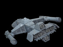 οπίσθια spaceship 2 όψη Στοκ Φωτογραφίες