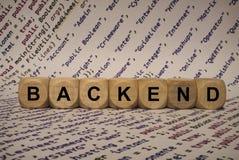 Οπίσθιο μέρος - κύβος με τις επιστολές και λέξεις από τον υπολογιστή, λογισμικό, κατηγορίες Διαδικτύου, ξύλινοι κύβοι Στοκ φωτογραφίες με δικαίωμα ελεύθερης χρήσης