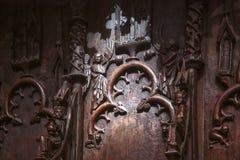 Οπίσθιο στήριγμα των καρεκλών στον καθεδρικό ναό της Ερφούρτης Στοκ φωτογραφία με δικαίωμα ελεύθερης χρήσης