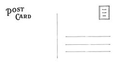 Οπίσθιο τμήμα της κάρτας Στοκ Εικόνες