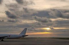 Οπίσθιο τμήμα του αεροπλάνου Στοκ φωτογραφία με δικαίωμα ελεύθερης χρήσης