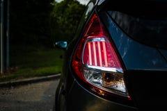 Οπίσθιο φανάρι γιορτής της Ford - μακροεντολή οπίσθιων φαναριών αυτοκινήτων Στοκ Εικόνα