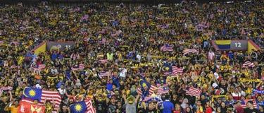 Οπαδοί ποδοσφαίρου της Μαλαισίας Στοκ Εικόνες