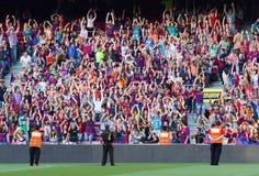 οπαδοί ποδοσφαίρου Στοκ φωτογραφίες με δικαίωμα ελεύθερης χρήσης