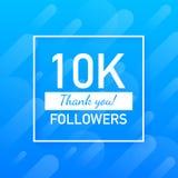 10000 οπαδοί, σας ευχαριστούν, η κοινωνική θέση περιοχών σας ευχαριστεί κάρτα συγχαρητηρίων οπαδών r ελεύθερη απεικόνιση δικαιώματος