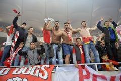 Οπαδοί ποδοσφαίρου ή ποδοσφαίρου Στοκ φωτογραφία με δικαίωμα ελεύθερης χρήσης