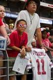 Οπαδοί ποδοσφαίρου καρδιναλίων της Αριζόνα στοκ φωτογραφία