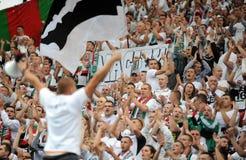 Οπαδοί ποδοσφαίρου, χούλιγκαν στοκ φωτογραφία με δικαίωμα ελεύθερης χρήσης