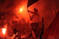 Οπαδοί ποδοσφαίρου, χούλιγκαν στοκ εικόνες με δικαίωμα ελεύθερης χρήσης