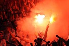 Οπαδοί ποδοσφαίρου, χούλιγκαν Στοκ Εικόνες