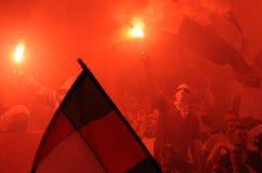 Οπαδοί ποδοσφαίρου, χούλιγκαν στοκ εικόνα με δικαίωμα ελεύθερης χρήσης