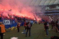 Οπαδοί ποδοσφαίρου Στοκ Φωτογραφίες