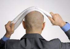 Οπισθοσκόπος από ένα φαλακρό κεφάλι στοκ εικόνα με δικαίωμα ελεύθερης χρήσης
