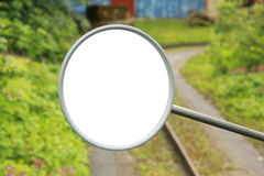 Οπισθοσκόπος καθρέφτης από το τρακτέρ Στοκ εικόνα με δικαίωμα ελεύθερης χρήσης