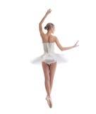 Οπισθοσκόπος του προκλητικού ballerina, που απομονώνεται στο λευκό Στοκ εικόνα με δικαίωμα ελεύθερης χρήσης
