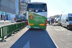 Οπισθοσκόπος Elche του λεωφορείου ομάδας λεσχών ποδοσφαίρου Στοκ φωτογραφίες με δικαίωμα ελεύθερης χρήσης