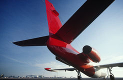 Οπισθοσκόπο αεροπλάνο αεριωθούμενων αεροπλάνων Westwind δίδυμου κινητήρα Στοκ Φωτογραφία