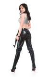 οπλισμένο κορίτσι στοκ φωτογραφία με δικαίωμα ελεύθερης χρήσης