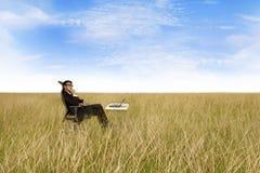οπουδήποτε εργασία ελευθερίας επιχειρηματιών στοκ εικόνα
