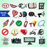 Οπτικά μέσα Doodle Στοκ εικόνες με δικαίωμα ελεύθερης χρήσης